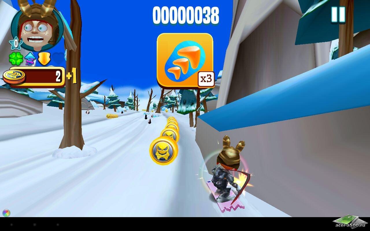 """Игра """"Skiing Fred"""" на Андроид"""