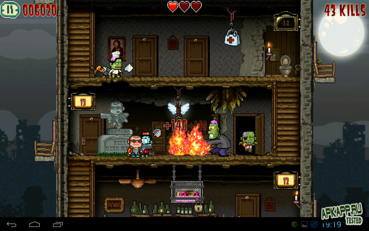 "Игра ""Crazy Bill: Zombie stars hotel"" для планшетов на Android"