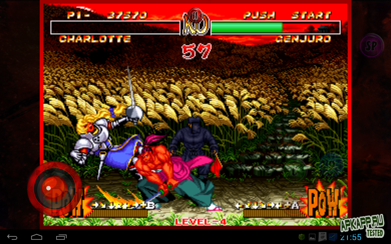 "Игра ""Samurai Shodown II"" на Андроид"