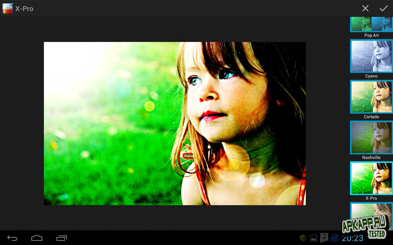 Фоторедактор Smoothie Photo Editor для планшетов на Android