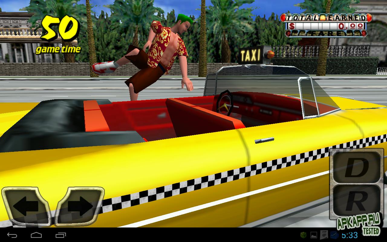 "Игра ""Crazy Taxi"" для планшетов на Android"