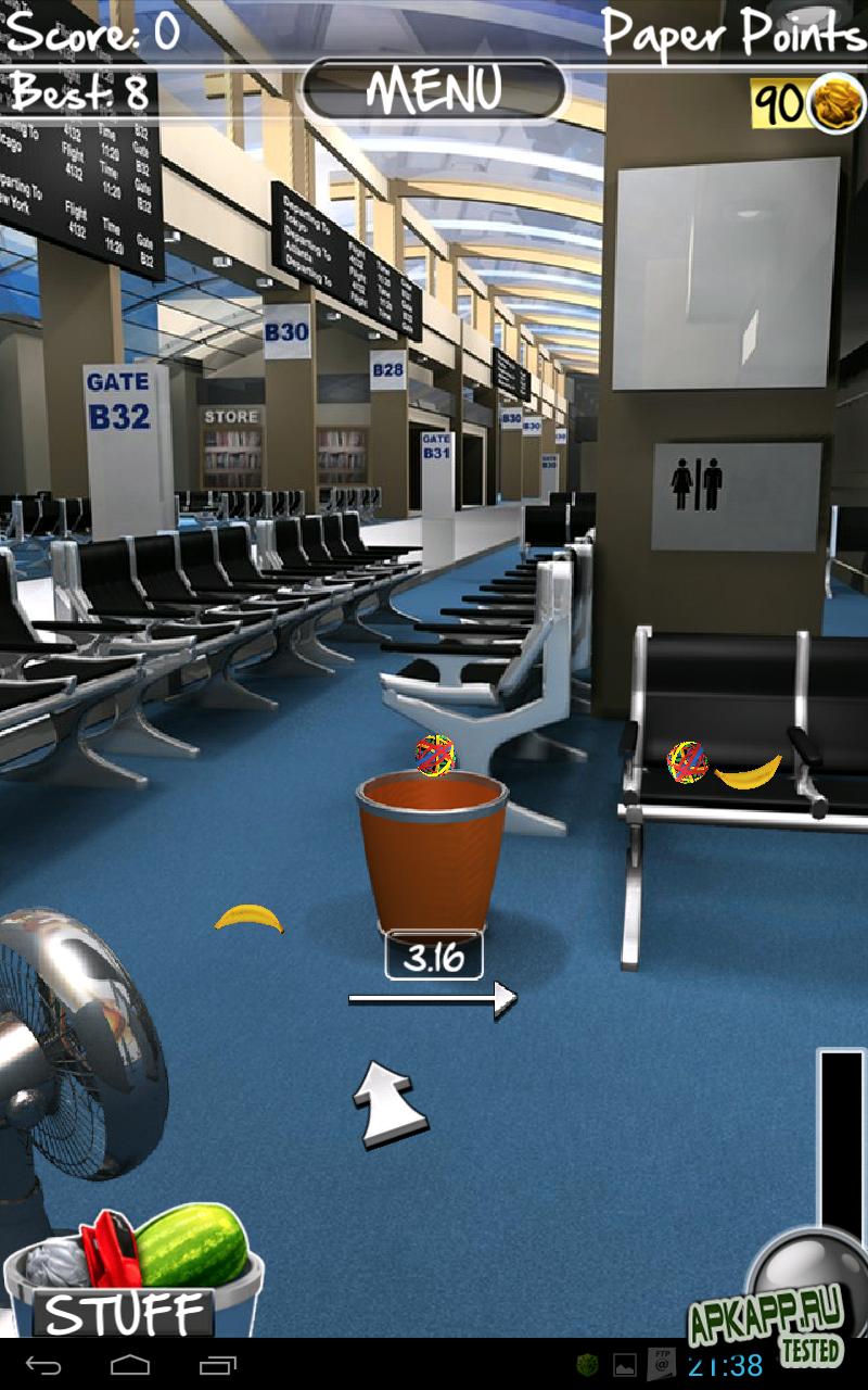 Игра Paper Toss для планшетов на Android