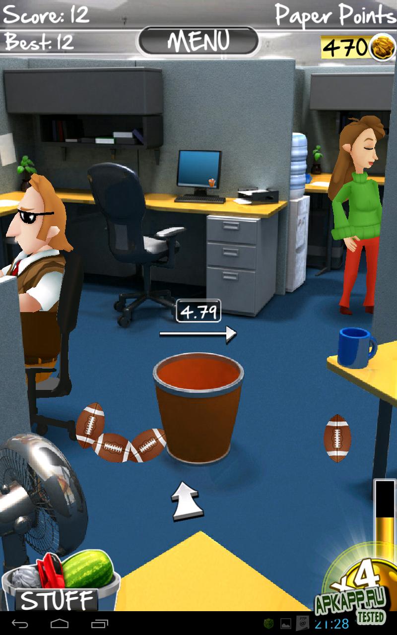 Игра Paper Toss на Андроид