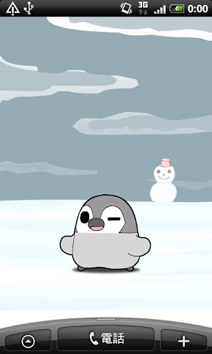 Живые обои Winter Penguin Free Live Wallpaper