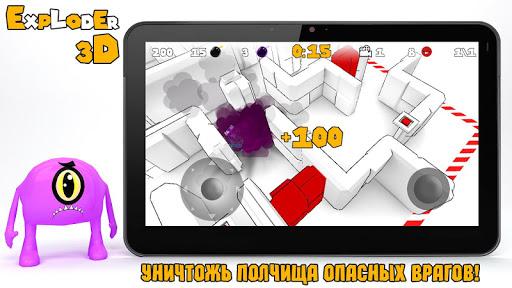 Игра Exploder 3D для планшетов на Android