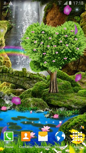 Водопад Романтические Обои скачать на Андроид