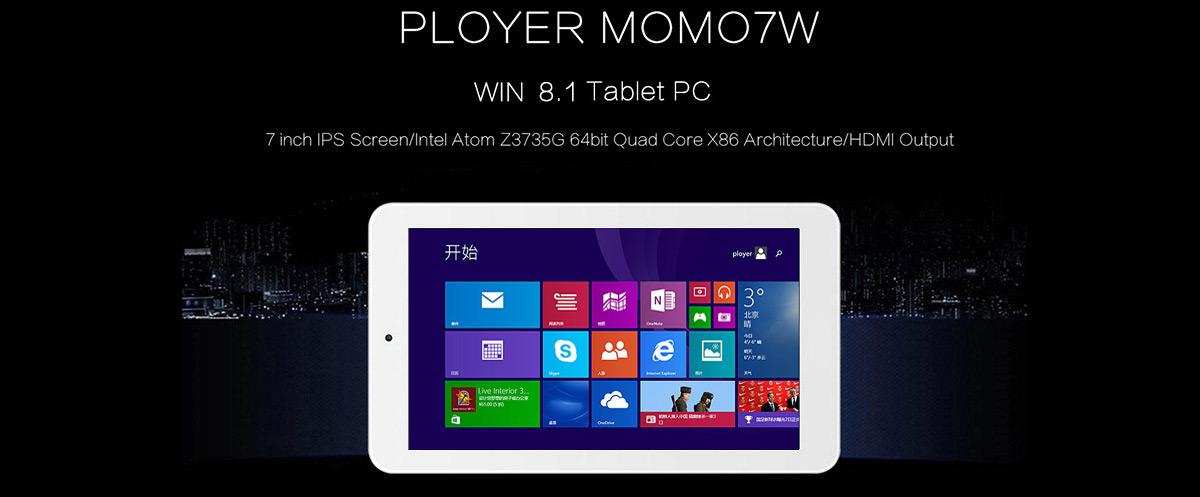 Планшет PLOYER MOMO7W на Windows 8.1 за $65!