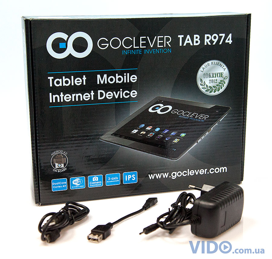 Обзор планшета GOCLEVER TAB R974 на Android 4.1.1