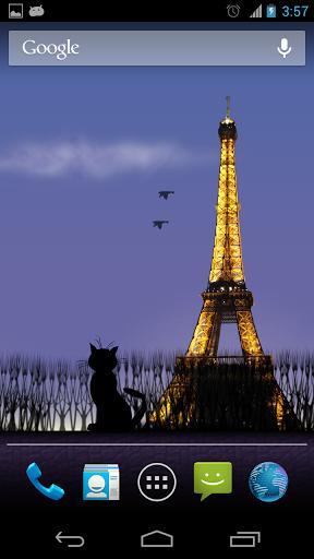 Mon Paris Live Wallpaper Free скачать на Андроид