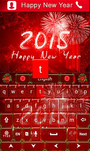 Happy New Year Keyboard Theme для планшетов на Android