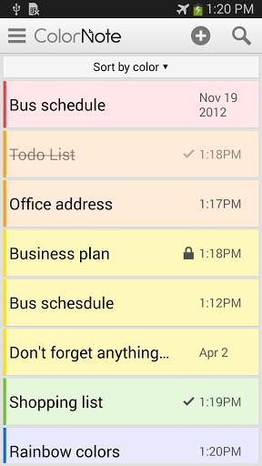 """Блокнот """"Catch Notes"""" на Андроид"""