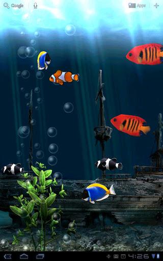 """Живые обои """"Aquarium Live Wallpaper"""" для планшетов на Android"""