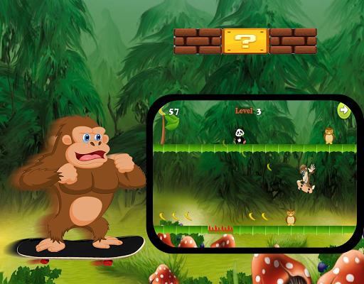 Monkey Skater Banana скачать на планшет Андроид