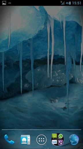 "Живые обои ""RealDepth Ice Cave LWP"" для планшетов на Android"