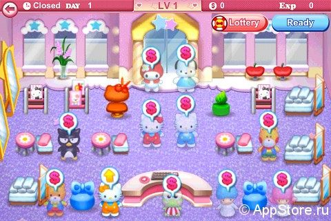 """Игра """"Hello Kitty Beauty Salon"""" на Андроид"""