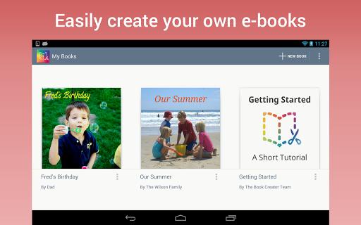 Приложение Book Creator для планшетов на Android