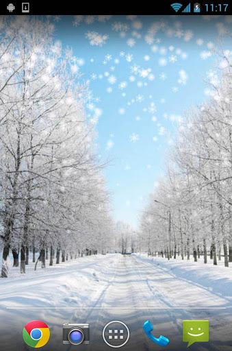 Снежная зима - Live Wallpaper скачать на Андроид