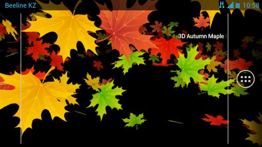 3D Осенние Кленовые Листья скачать на Андроид