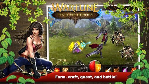 Игра Wartune: Hall of Heroes для планшетов на Android