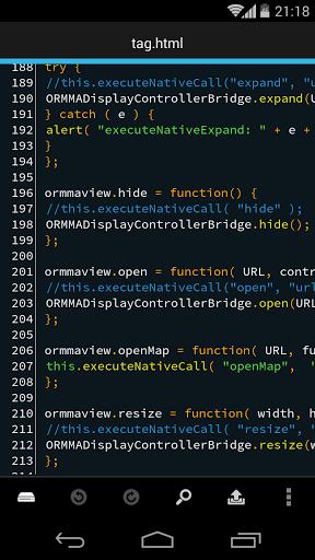 Текстовый редактор для программиста Droid Edit скачать на планшет Андроид
