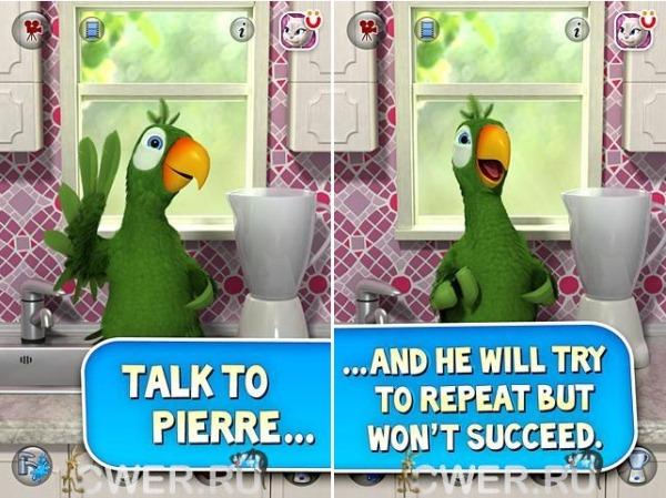 "Игра ""Talking Pierre the Parrot"" на Андроид"