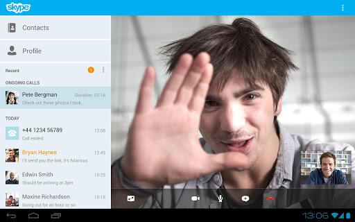 Как установить Skype на планшет Android