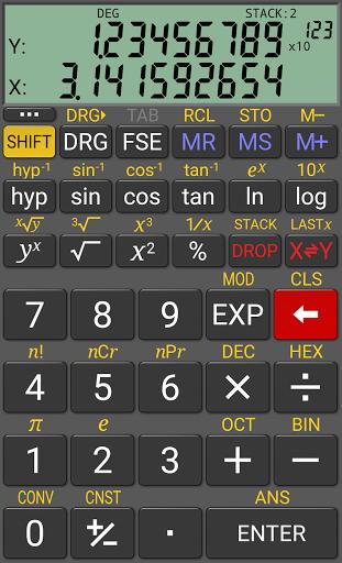 Научный калькулятор RealCalc скачать на планшет Андроид