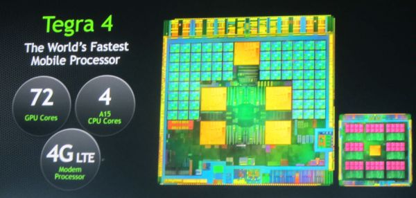 Компания nVidia представила Tegra 4 на выставке CES 2013