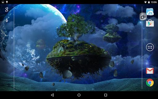 Парящие острова для планшетов на Android