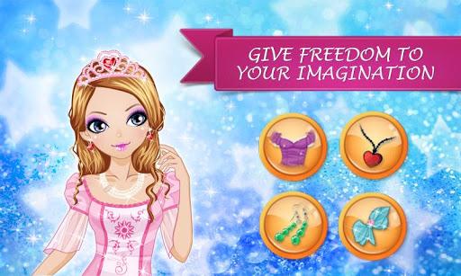 Игра Одевашки: макияж принцессы на Андроид