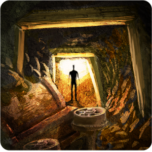 Выход из заброшенной шахты