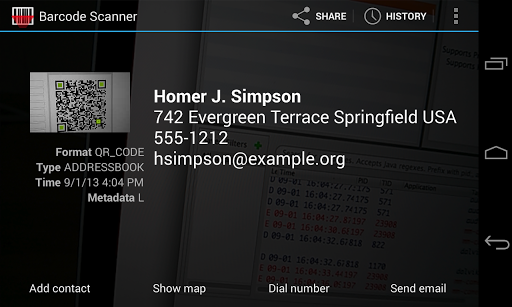 "Сканер штрих-кодов ""Barcode Scanner"" на Андроид"