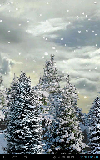 "Живые обои ""Snowfall Live Wallpaper"" на Андроид"