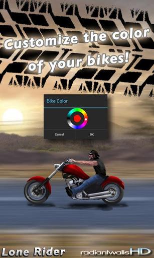 "Живые обои ""RadiantWalls HD - Lone Rider"" для планшетов на Android"