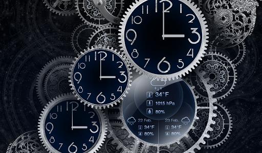 Живые обои Black clock Live wallpaper для планшетов на Android
