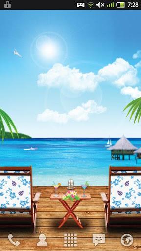 "Живые обои ""Paradise Beach"" для планшетов на Android"