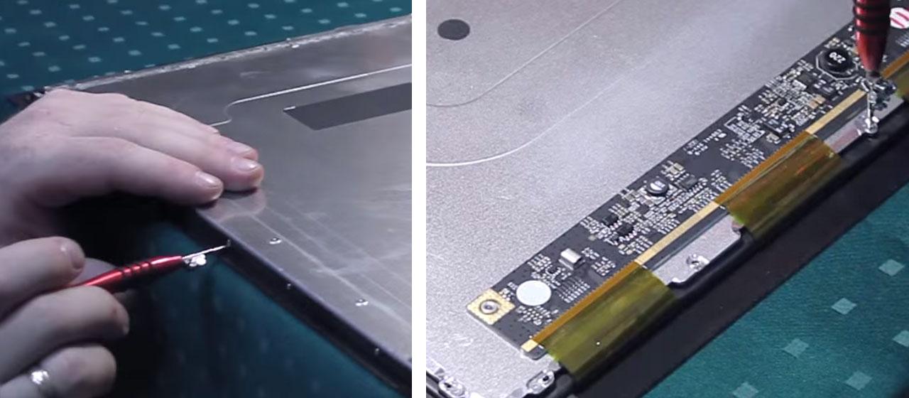 Почему попадает пыль под экран планшета?