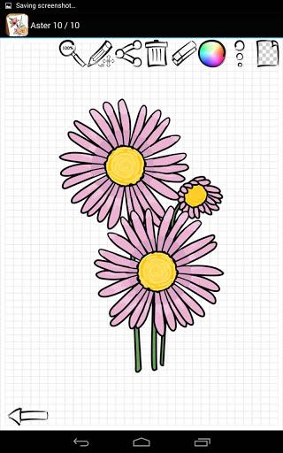 Приложение Учимся Рисовать Цветы для планшетов на Android
