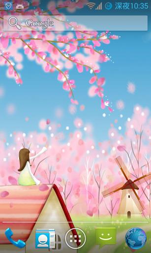 Сакура: Живые обои - бесплатно скачать на планшет Андроид