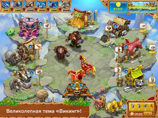 Игра Веселая ферма. Викинги для планшетов на Android
