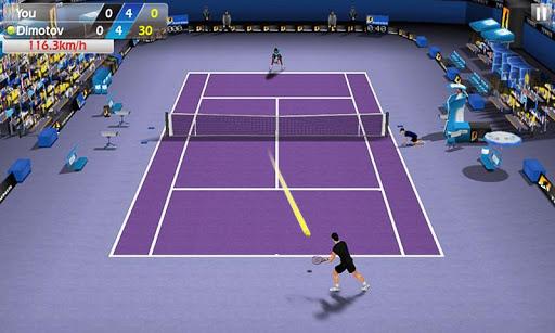 Игра Flick Tennis для планшетов на Android