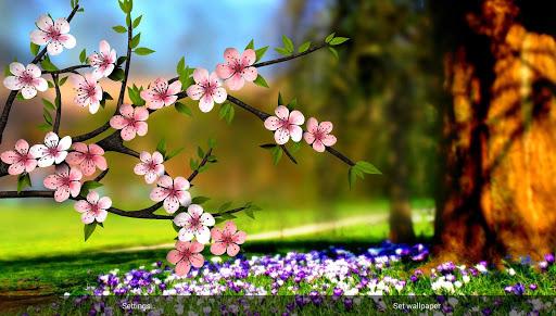 Живые обои Spring Flowers 3D Parallax Pro для планшетов на Android