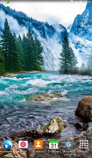 Stormy Mountain River LWP скачать на Андроид