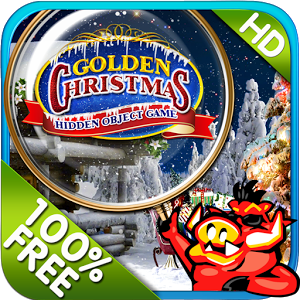 Golden Christmas Hidden Object