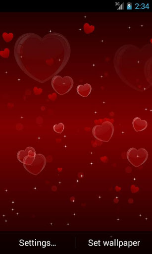 Delicate Hearts Free LWP скачать на Андроид