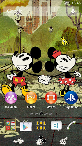 XPERIA™ Mickey New York Theme на Андроид