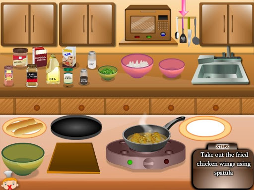 Игра Chicken Wings Cooking для планшетов на Android