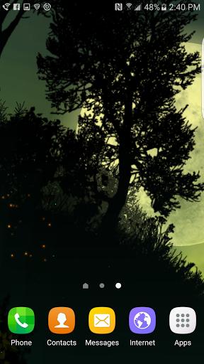 Fantasy Night Forest Live WP скачать на Андроид