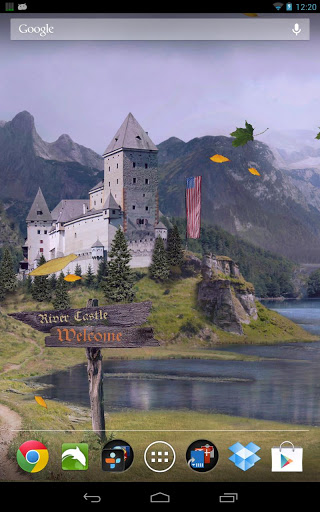 "Живые обои ""Castle Live Wallpaper Pro"" для планшетов на Android"