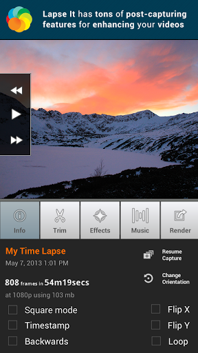 "Приложение для видеосъемки ""Lapse It • Time Lapse • Pro"" для планшетов на Android"